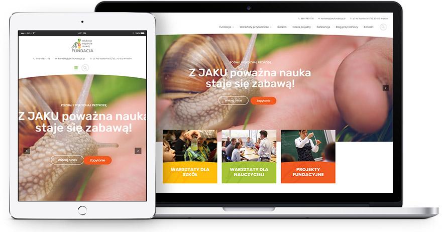 Strona internetowa finfacji JAKU